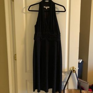 Black dress with pleated front